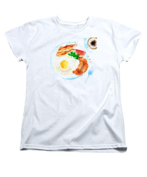 Breakfast 03 Women's T-Shirt (Standard Cut) by Aloke Design
