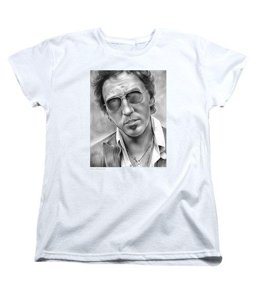 Bruce Springsteen Women's T-Shirt (Standard Cut) by Greg Joens