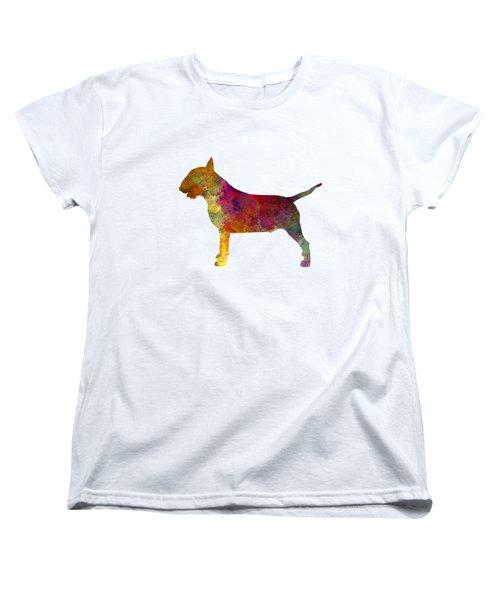 Bull Terrier In Watercolor Women's T-Shirt (Standard Cut) by Pablo Romero