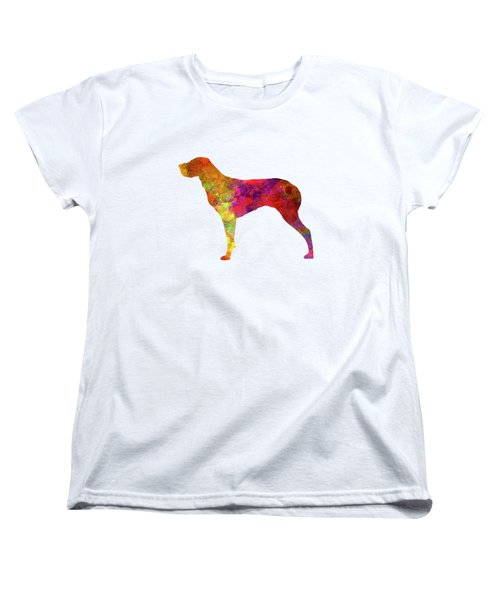 Burgos Pointer In Watercolor Women's T-Shirt (Standard Cut) by Pablo Romero