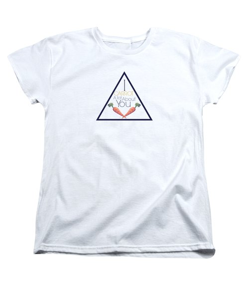Carrot About You Pyramid Women's T-Shirt (Standard Cut) by Lunar Harvest Designs