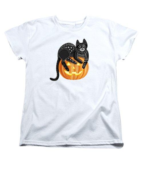 Cattober Women's T-Shirt (Standard Cut) by Veronica Kusjen