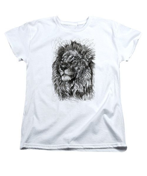 Cecil The Lion Women's T-Shirt (Standard Cut) by Michael  Volpicelli