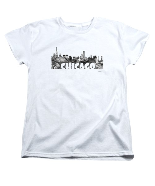 Chicago Illinios Skyline Women's T-Shirt (Standard Cut) by Marlene Watson