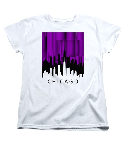 Chicago Violet Vertical  Women's T-Shirt (Standard Cut) by Alberto RuiZ