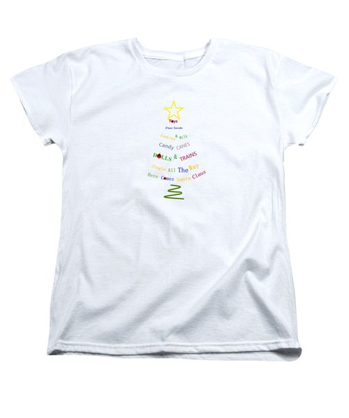 Children Holiday Tree Women's T-Shirt (Standard Cut) by Kathleen Sartoris