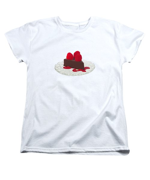 Chocolate Cake Women's T-Shirt (Standard Cut) by Priscilla Wolfe