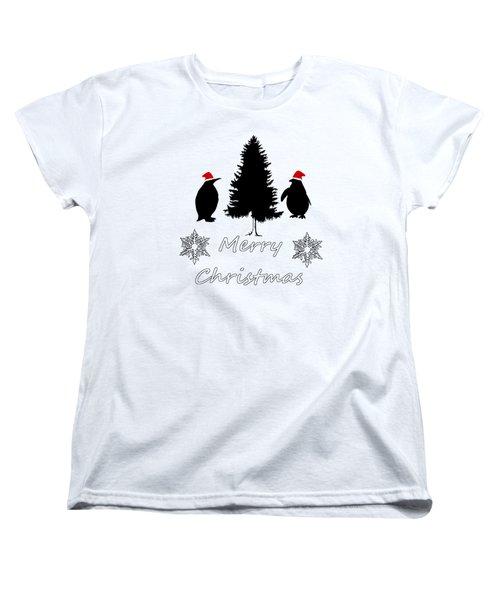 Christmas Penguins Women's T-Shirt (Standard Cut) by Mordax Furittus