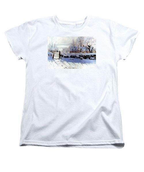 Claude Monet: The Magpie Women's T-Shirt (Standard Cut) by Granger