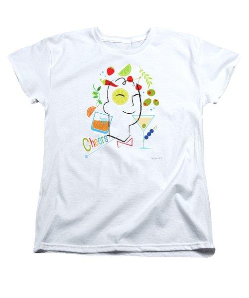 Cocktail Time Women's T-Shirt (Standard Cut) by Lisa Henderling