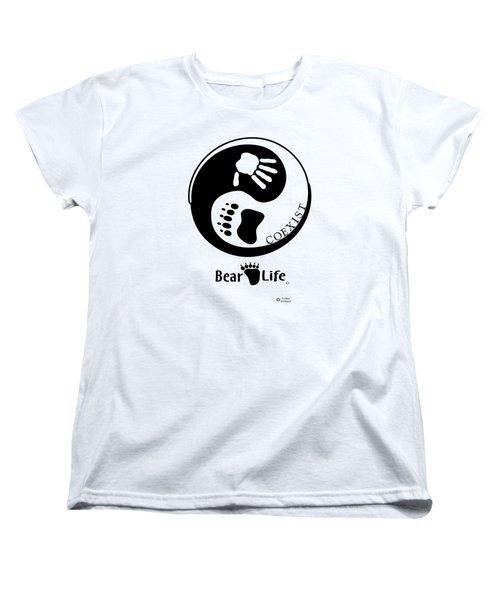 Coexist-yin Yang Bear Life Women's T-Shirt (Standard Cut) by PJ Jackson