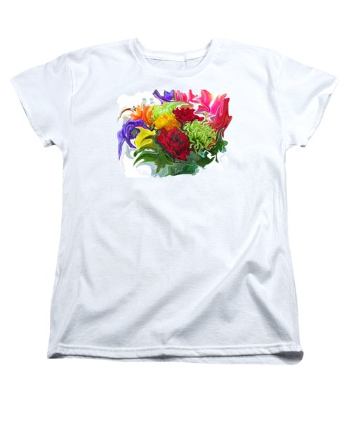 Colorful Bouquet Women's T-Shirt (Standard Cut) by Kathy Moll