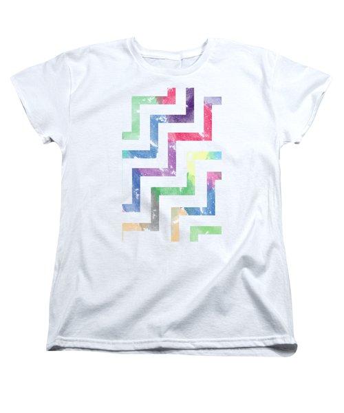 Colorful Geometric Patterns Vi Women's T-Shirt (Standard Cut) by Amir Faysal