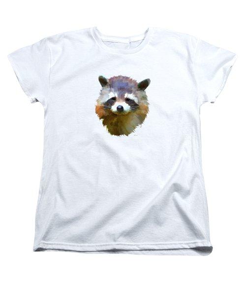 Colourful Raccoon Women's T-Shirt (Standard Cut) by Bamalam  Photography