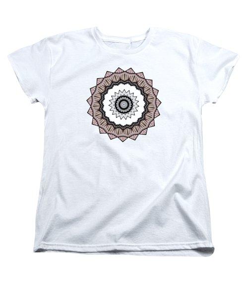 Construction Mandala By Kaye Menner Women's T-Shirt (Standard Cut) by Kaye Menner