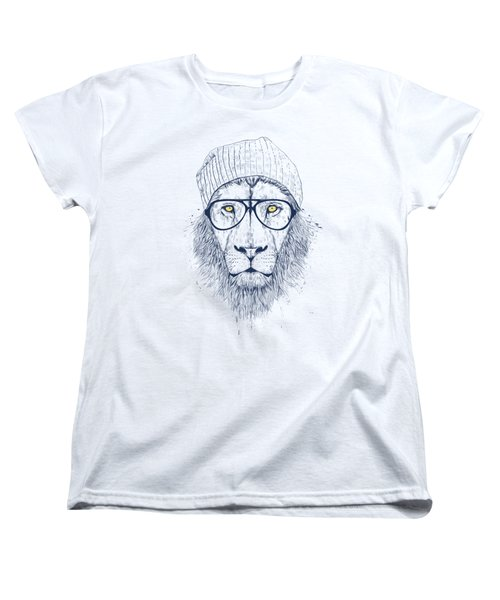 Cool Lion Women's T-Shirt (Standard Cut) by Balazs Solti