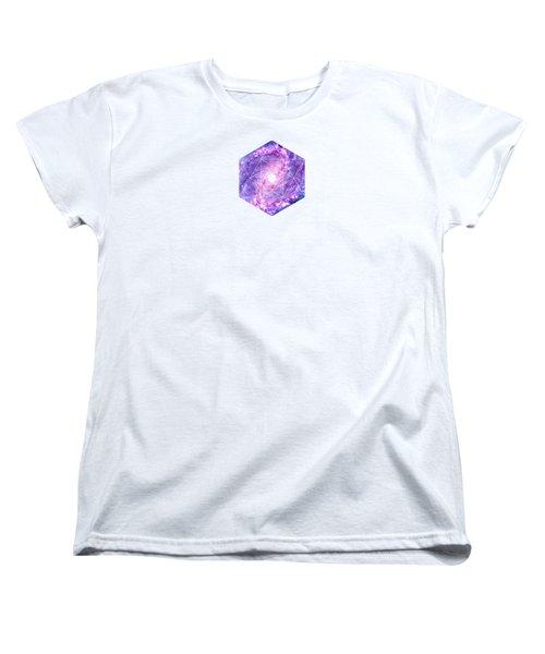 Cosmic Vacuum Cleaner Spiral Galaxy M83 Women's T-Shirt (Standard Cut) by Philipp Rietz