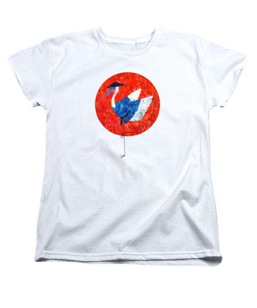 Crane Women's T-Shirt (Standard Cut) by Daryna Skulska
