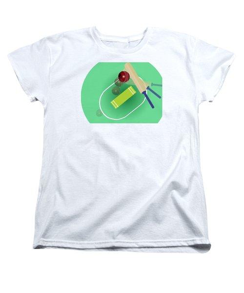 Cricket Women's T-Shirt (Standard Cut) by Smita Kadam