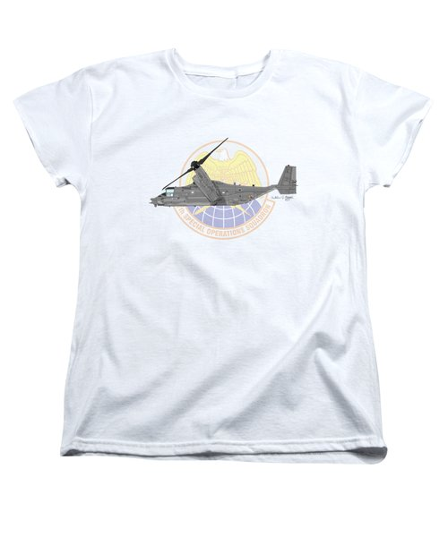 Cv-22b Osprey 7sos Women's T-Shirt (Standard Cut) by Arthur Eggers
