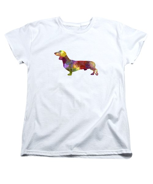 Dachshund In Watercolor Women's T-Shirt (Standard Cut) by Pablo Romero