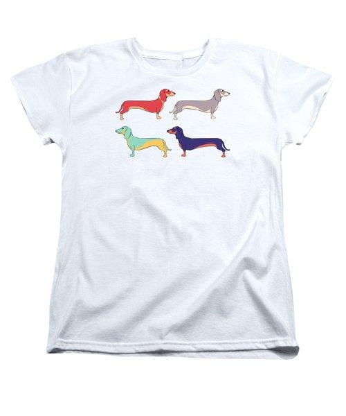 Dachshunds Women's T-Shirt (Standard Cut) by Kelly Jade King