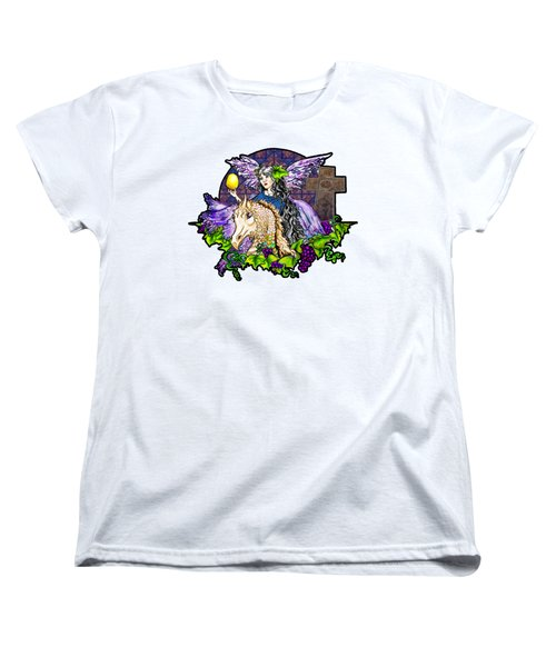Dark Tales Of Fairy Eve And The Dragons Of Eden Women's T-Shirt (Standard Cut) by Janice Moore