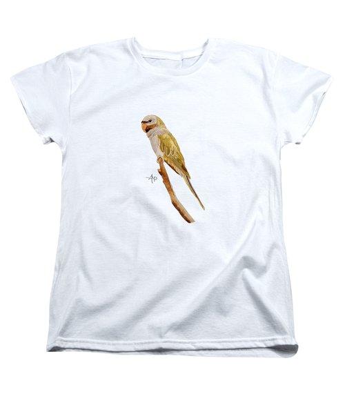 Derbyan Parakeet Women's T-Shirt (Standard Cut) by Angeles M Pomata