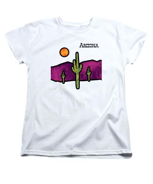 Desert Stained Glass Women's T-Shirt (Standard Cut) by Methune Hively