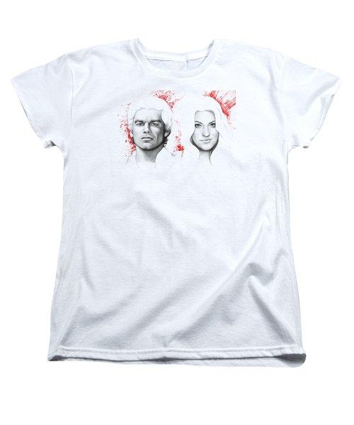 Dexter And Debra Morgan Women's T-Shirt (Standard Cut) by Olga Shvartsur