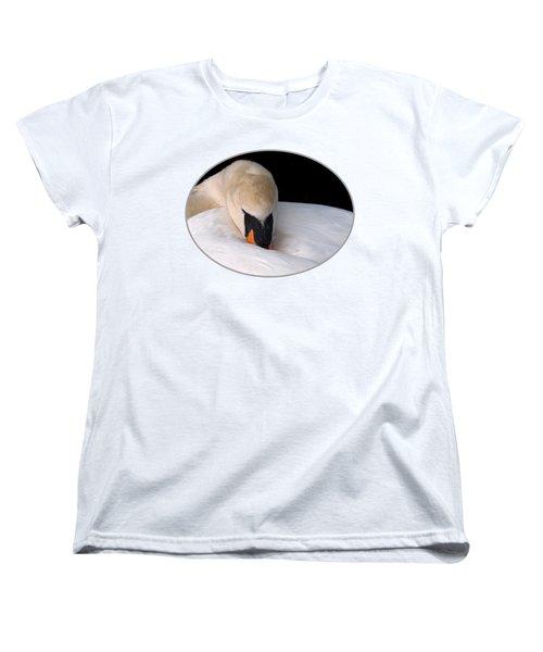 Do Not Disturb - Swan On Nest Women's T-Shirt (Standard Cut) by Gill Billington