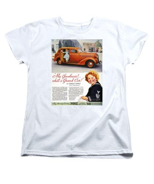 Dodge Automobile Ad, 1936 Women's T-Shirt (Standard Cut) by Granger