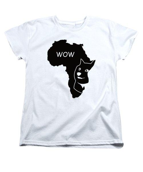 Dogecoin In Africa Women's T-Shirt (Standard Cut) by Michael Jordan