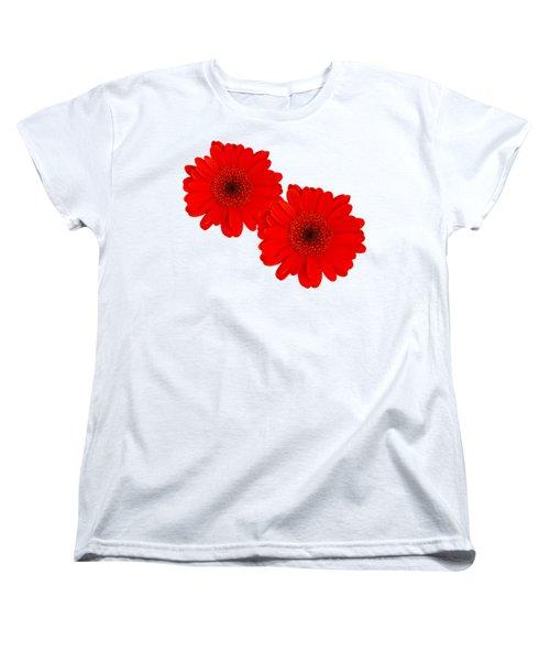 Double Gerbera Women's T-Shirt (Standard Cut) by Scott Carruthers