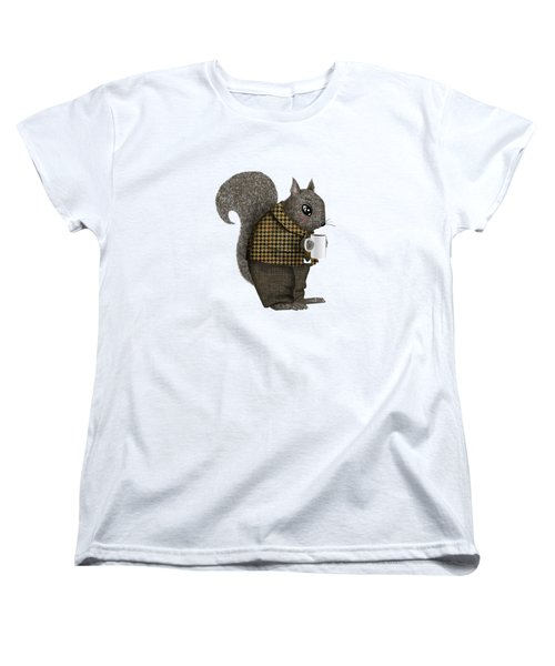 Early Morning For Mister Squirrel Women's T-Shirt (Standard Cut) by Little Bunny Sunshine