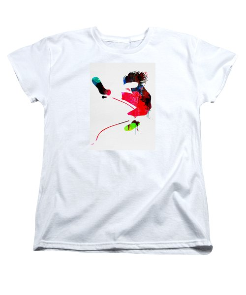Eddie Watercolor Women's T-Shirt (Standard Cut) by Naxart Studio