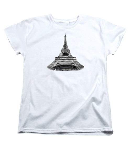 Eiffel Tower Design Women's T-Shirt (Standard Cut) by Irina Sztukowski