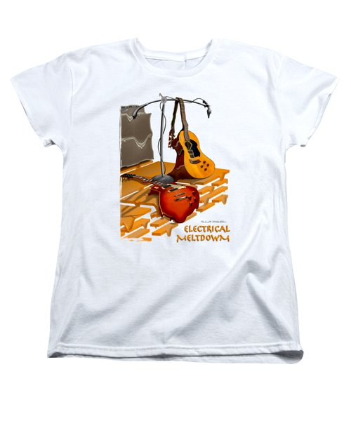 Electrical Meltdown Se Women's T-Shirt (Standard Cut) by Mike McGlothlen