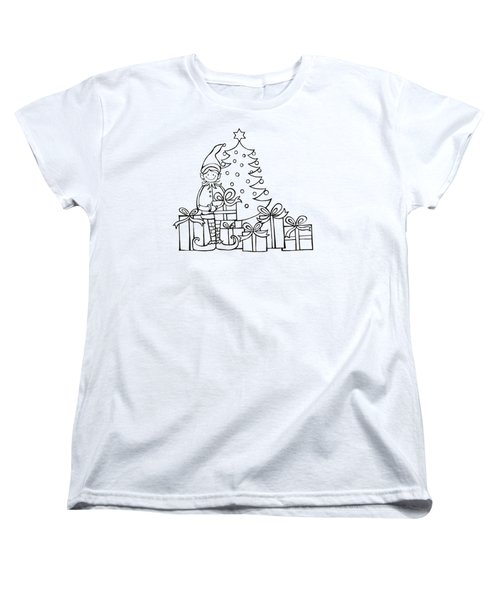 Elf And Presents  Women's T-Shirt (Standard Cut) by Mantra Y
