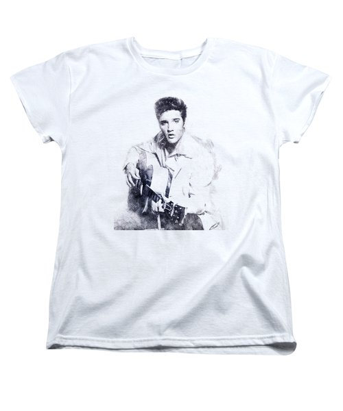 Elvis Presley Portrait 01 Women's T-Shirt (Standard Cut) by Pablo Romero