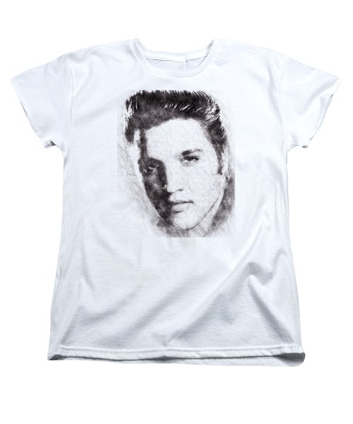 Elvis Presley Portrait 02 Women's T-Shirt (Standard Cut) by Pablo Romero