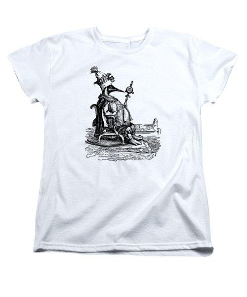 Empire Penguin Grandville Transparent Background Women's T-Shirt (Standard Cut) by Barbara St Jean