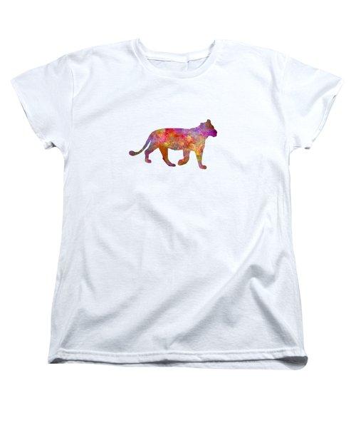 Female Lion 01 In Watercolor Women's T-Shirt (Standard Cut) by Pablo Romero