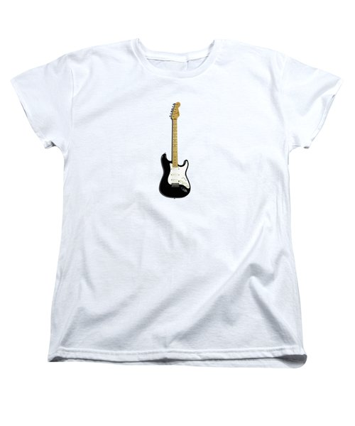 Fender Stratocaster Blackie 77 Women's T-Shirt (Standard Cut) by Mark Rogan