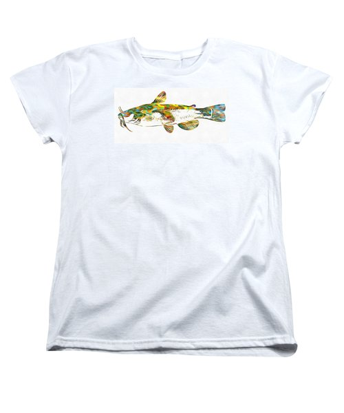 Fish Art Catfish Women's T-Shirt (Standard Cut) by Dan Sproul