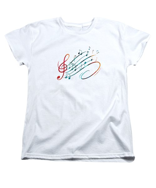 Fluid Depths Alcohol Ink Abstract Women's T-Shirt (Standard Cut) by Nikki Marie Smith