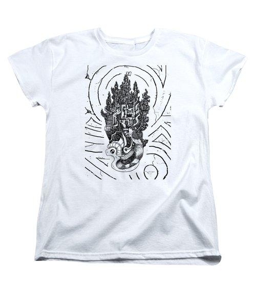 Flying Castle Women's T-Shirt (Standard Cut) by Erki Schotter