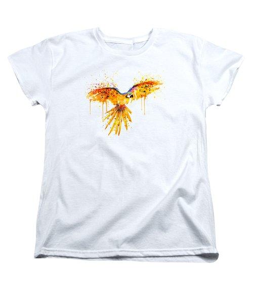 Flying Parrot Watercolor Women's T-Shirt (Standard Cut) by Marian Voicu