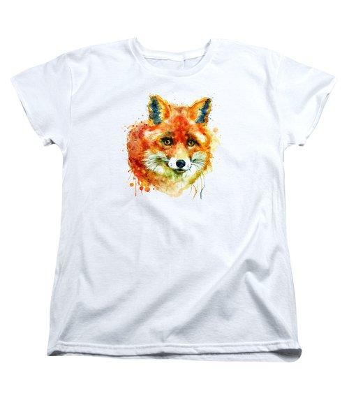 Fox Head Women's T-Shirt (Standard Cut) by Marian Voicu
