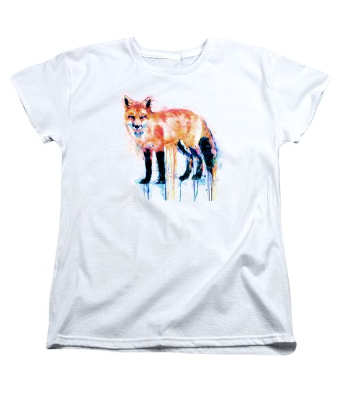 Fox  Women's T-Shirt (Standard Cut) by Marian Voicu